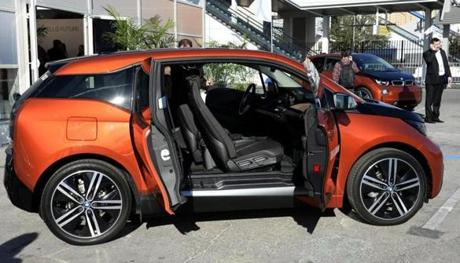 The Globe's Hiawatha Bray test drove the BMW i3. He says the electric car will pose a challenge for Tesla.